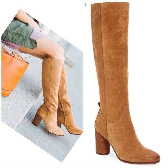 9ce9c2b80 Sam Edelman Camellia Tan Camel Suede Tall Boots 6